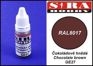 Sira Hobby GE27 Chocolate Brown RAL8017 (Farba akrylowa 12ml) - 2824110732