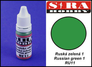 Sira Hobby RU11 Russian Green 1 (Farba akrylowa 12ml) - 2824110731
