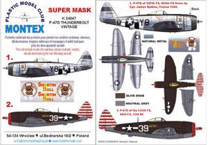 Montex K24047 1:24 P-47D Thunderbolt (Vintage) - 2824114426