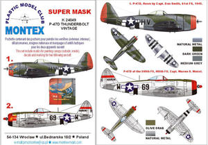 Montex K24049 1:24 P-47D Thunderbolt (Vintage) - 2824114430