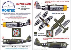 Montex K24048 1:24 P-47D Thunderbolt (Vintage) - 2824114435