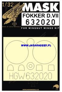 HGW Mask 632020 Fokker D.VII (1/32) - 2824114542