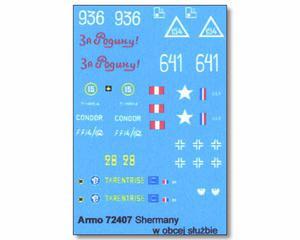 Armo 72407 - Shermany w obcej służbie (kalkomania 1/72) - 2824099313