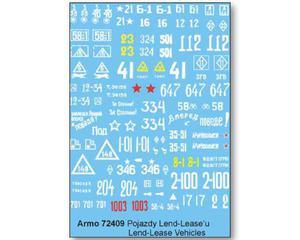Armo 72409 - Pojazdy Lend-Lease'a (kalkomania 1/72) - 2824099824