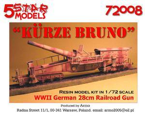 5 Star Models 72008 - Kurze Bruno - działo kolejowe (1/72) - 2824101852