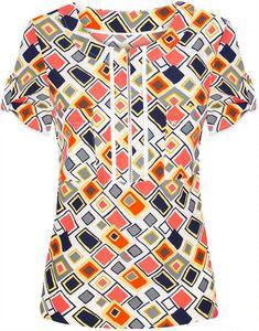 Bluzka w modnym wzorze Palmira II. - 2847490113