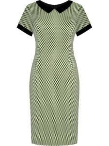 Sukienka damska Telinda X, elegancka kreacja z modnym kołnierzykiem. - 2849227795
