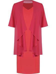 Sukienka z szyfonową narzutką maskującą brzuch Gizela I. - 2857450893