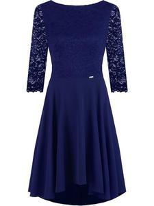 60c8ccfac90ea0 Sukienka na wesele Tacjana VI, elegancka kreacja z dodatkiem koronki. -  2850618176