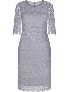 Sukienka z gipiury Frida IX, elegancka kreacja na wesele. - 2850902714