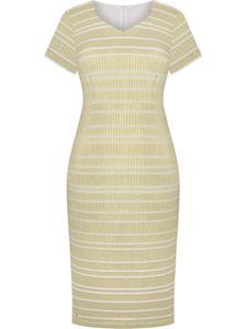Dzianinowa sukienka w złote paski Lucylla I, modna kreacja na wesele. - 2852411555
