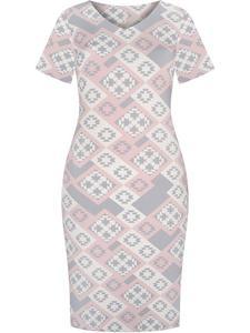 Sukienka z modnym nadrukiem Stefania IV. - 2852411582