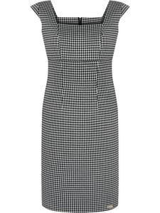Modna sukienka w pepitkę Klementis, letnia kreacja bez rękawów. - 2853736063