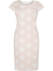 Sukienka damska Jarmiła II, wiosenna kreacja w modnym wzorze. - 2853070578