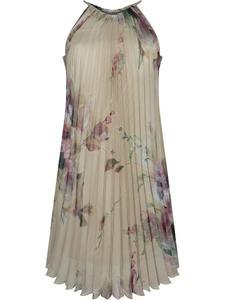 Plisowana sukienka bez rękawów Kamilia II, letnia kreacja w modnym fasonie. - 2853334706