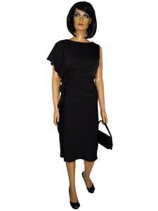 Sukienka Lili I, modna asymetryczna kreacja wieczorowa. - Lili I czarna - 2824753347