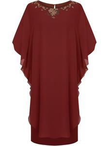 Sukienka damska Konrada IX, oryginalna kreacja w fasonie maskującym brzuch i biodra. - 2857025983
