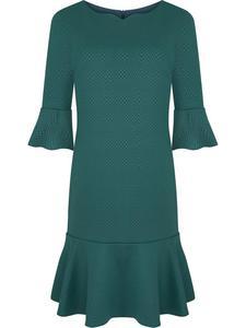 Sukienka ozdobiona falbanami Fabianna, romantyczna kreacja w modnym kolorze. - 2857026009