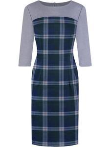 Kraciasta sukienka z modnym zaszewkami Martha III. - 2856554647