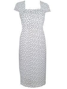 Szyfonowa sukienka Wiera III, zwiewna kreacja w groszki. - Wiera III biało- czarna - 2824753387