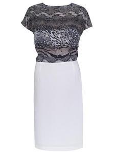 Sukienka damska Asteria I, letnia kreacja z szyfonową górą sukienki. Modny wzór. - Afrodyta I wzór zwierzęcy - 2824753398