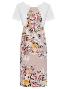Sukienka w kwiaty Fiona IV, wiosenna kreacja w modnym wzorze. - Fiona IV - 2824753606