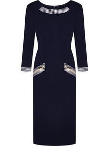 Sukienka damska Alison II, modna kreacja na jesień. - Alison II-granatowa. - 2824753764