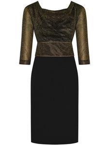 Sukienka wieczorowa Rosita, elegancka kreacja z dekoltem typu woda. - 2824753828