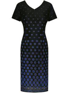 Sukienka wieczorowa Belinda, elegancka kreacja w grochy, - 2824753838