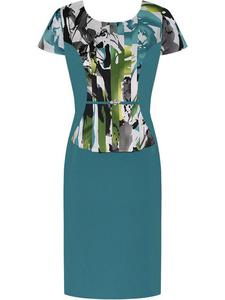 Sukienka damska Kordula II, wizytowa kreacja w wyszczuplającym fasonie. - Kordula II - 2847243883