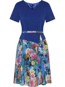 Sukienka z baskinką Klaudyna II, wiosenna kreacja w modnych kolorach. - Klaudyna II - 2824753954