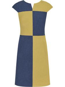 6ba1607e82 Lniana sukienka w geometryczny wzór Lucjana. - 2824753975