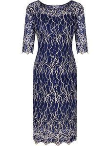 Sukienka z modnej koronki Kasandra I, widowiskowa kreacja na przyjęcie weselne. - Kasandra I - 2824754069