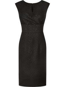 Czarna sukienka bez rękawów Doryda, wieczorowa kreacja z połyskiem. - 2824754099