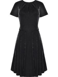 Sukienka wieczorowa Rafaela, czarna kreacja z delikatnym połyskiem. - 2855031696