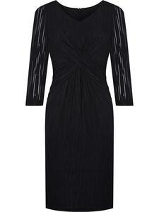 Sukienka wieczorowa Feliksa, czarna kreacja w fasonie maskującym brzuch. - 2824754319
