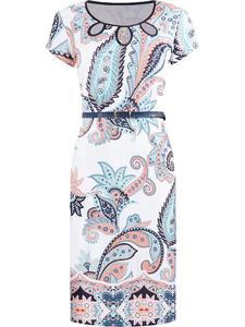 Sukienka damska Janina II, wiosenna kreacja w modne wzory. - 2824754980