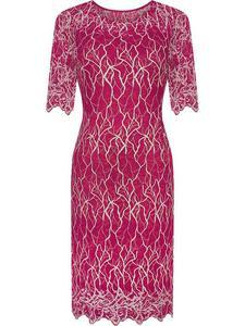 Sukienka z modnej koronki Kasandra IV, widowiskowa kreacja na przyjęcie weselne. - 2824754994