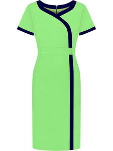 Sukienka wyszczuplająca Gracjana IV, wiosenna kreacja z tkaniny. - Gracjana IV - 2824755067