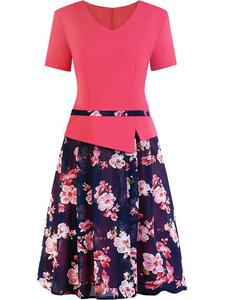 Sukienka z baskinką Klaudyna VIII, wiosenna kreacja w modnych kolorach. - Klaudyna VIII - 2833955682