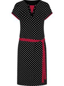 Sportowa sukienka z dzianiny Eliza X, letnia kreacja w groszki. - Eliza X - 2833955759