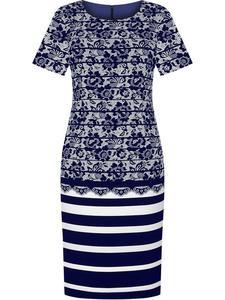 Wzorzysta sukienka Samara, modna kreacja wyjściowa. - 2835845877