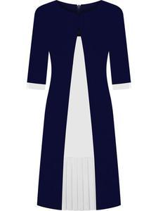 Sukienka wyszczuplająca Dorota IV, modna kreacja na jesień. - 2856046584