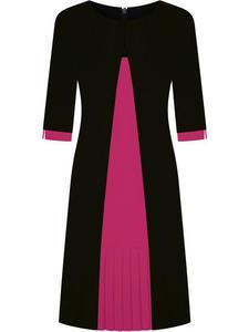 Sukienka wyszczuplająca Dorota V, modna kreacja na jesień. - 2856554452