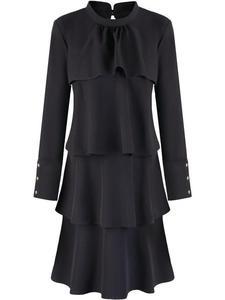 Sukienka z falbanami Jesika I, czarna kreacja w stylu retro. - 2842013266