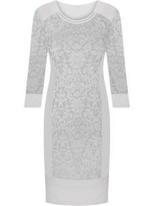 Ozdobna sukienka koronkowa Berta, wizytowa kreacja z pikowanymi wstawkami. - 2842281815