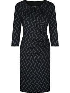 Sukienka wizytowa Elida VII, wyszczuplająca kreacja w modnym wzorze. - 2843139772