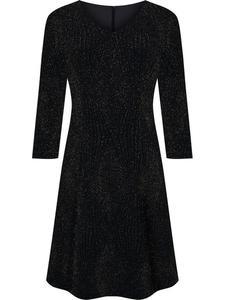 Sukienka damska Feliksa VIII, wizytowa kreacja ze złotym połyskiem. - 2843378448