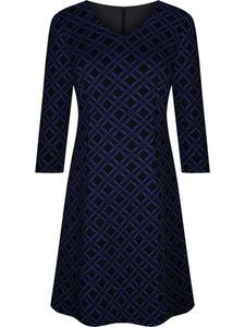 Sukienka damska Feliksa X, dzianinowa kreacja w geometrycznym wzorze. - 2843378450