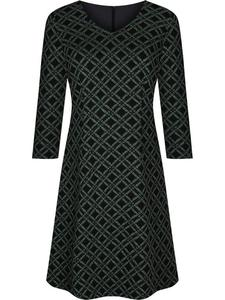 Sukienka damska Feliksa XI, dzianinowa kreacja w geometrycznym wzorze. - 2843378451